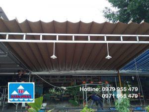 mái xếp di động tại nhà hàng
