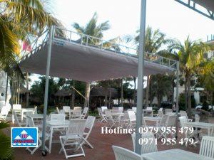mái xếp tại nhà hàng