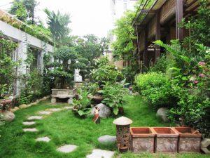 tiểu cảnh đẹp cho sân vườn