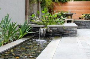 thiết kế nước cho sân vườn