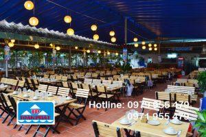 Lắp đặt mái xếp nhà hàng