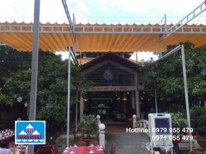 mái xếp đẹp dành cho nhà hàng