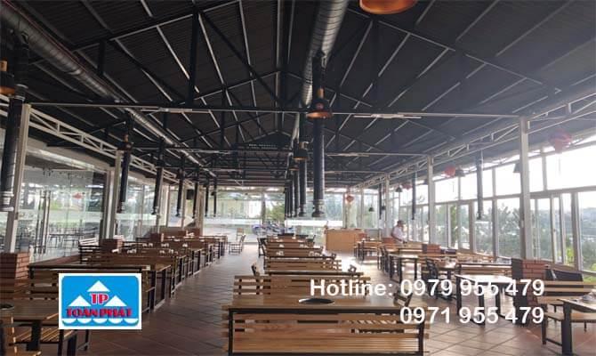 mái xếp nhà hàng cao cấp